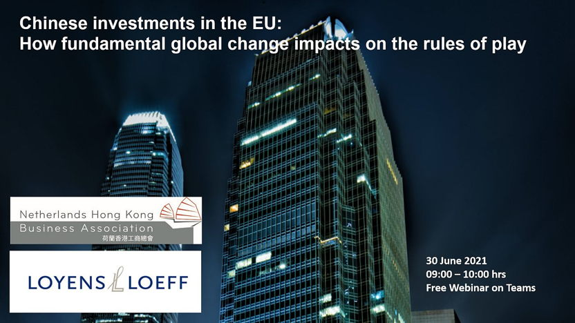 Chinese investments in the EU; new rules of play