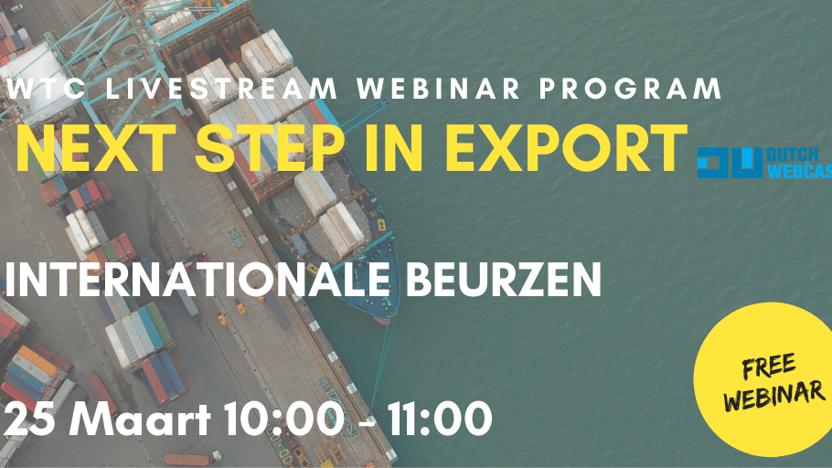 INTERNATIONALE BEURZEN | NEXT STEP IN EXPORT