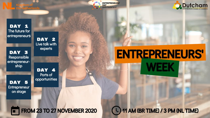 Dutcham Entrepreneurs' Week - From 23 to 27 November