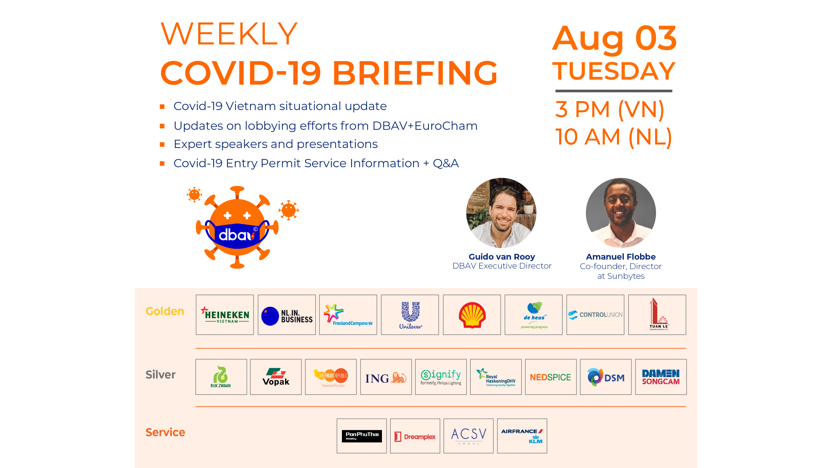 Weekly Covid-19 briefing - Every Tuesday