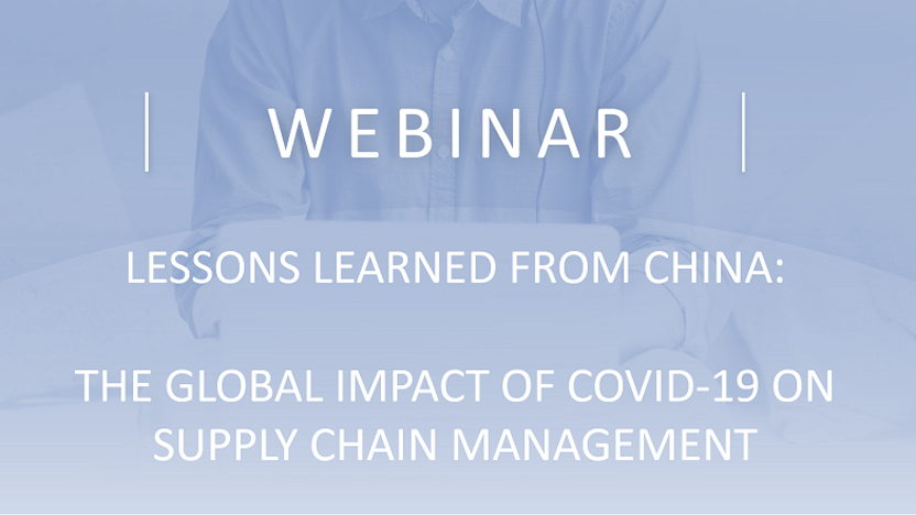 HHM Webinar: Lessons learned from China. The global impact of COVID-19 on supply chain management
