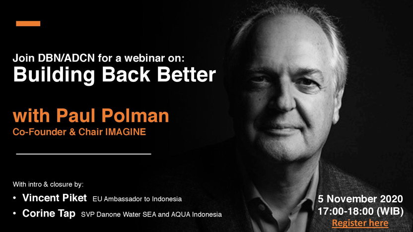 Webinar: Building Back Better with Paul Polman