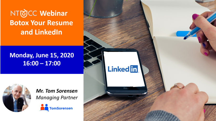 NTCC Webinar Botox Your Resume and LinkedIn