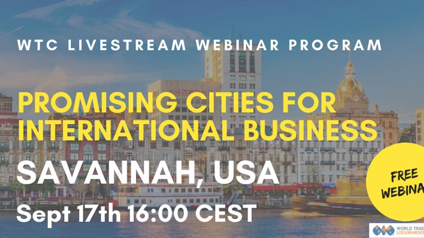 Webinar Promising City: Savannah