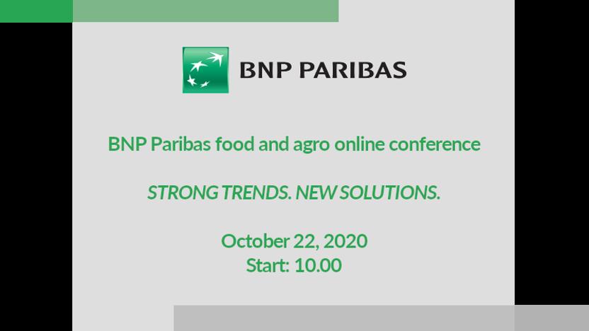BNP Paribas FOOD & AGRO online conference