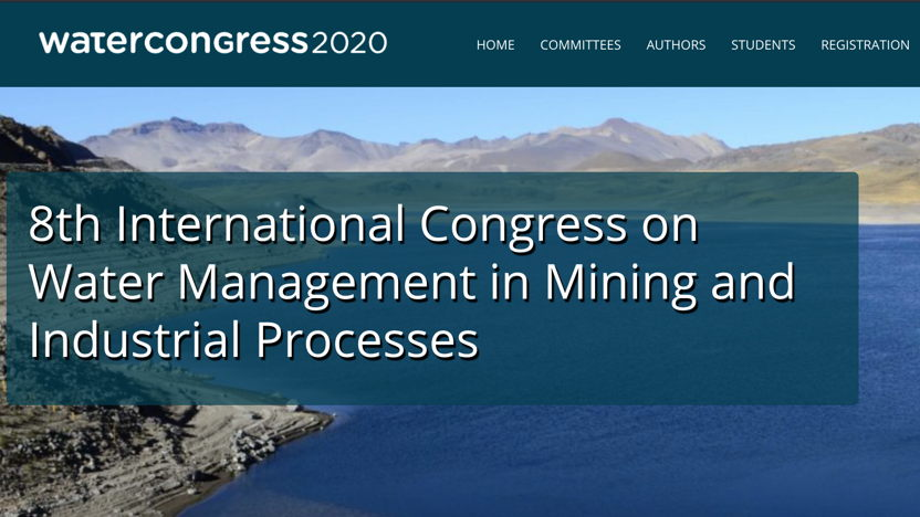 Water Congress 2020: Water Management in Mining and Industrial Processes